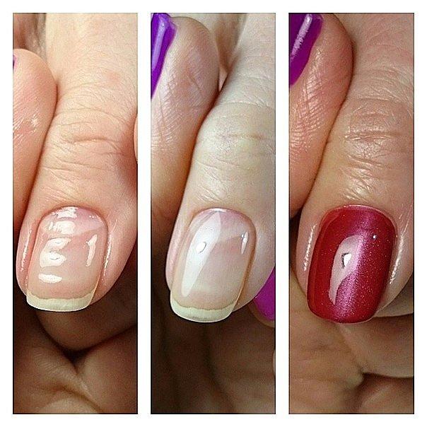 Выравнивание ногтей базой гель лака