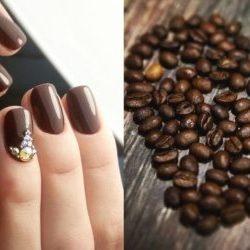 Кофейный маникюр — фото идей