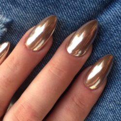 Как наносить втирку для ногтей зеркальный блеск