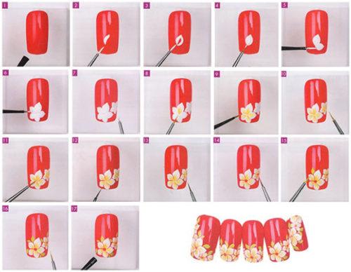 Как рисовать акриловыми красками на ногтях