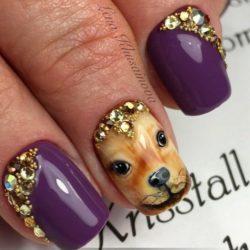 Маникюр с собакой — фото идей