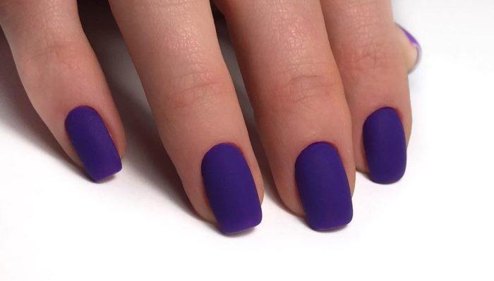 Нежно-фиолетовый прекрасно сочетается с матовым финишем